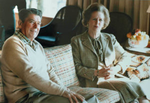 Reagan and Thatcher 1984 Mannwest