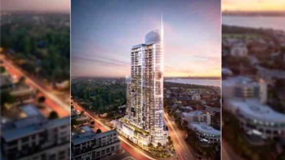 Artist's impression of Civic Heart South Perth, a $150-million, 320-apartment project that has taken seven years to gain approval, and if proposed now would qualify for the WAPC assessment.